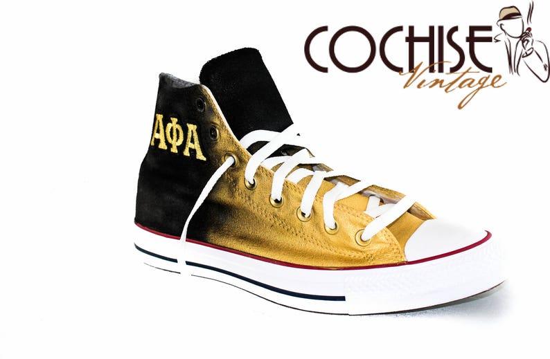 a68b65438134 Alpha Phi Alpha Custom AirBrush Converse Chuck Taylors All