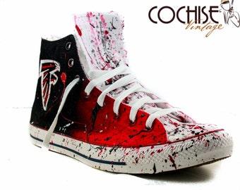 6e3a6f09b8cc Atlanta Falcons Custom Airbrush Converse Chuck Taylors All Stars