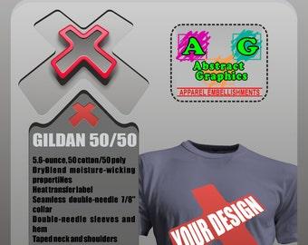 48 CUSTOM SCREEN PRINTED T-shirts