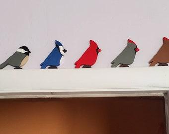 Cardinal Bird Male or Female  Male or Female Red Bird, Chickadee, Blue Jay Bird Home Decor Door Frame Window Sill Shelf Cardinal Home Decor