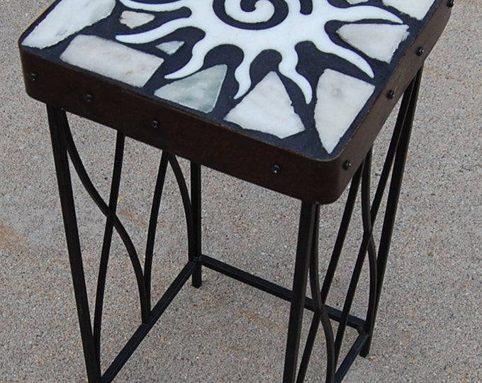 Marble Starburst 164: A natural stone topped accent table