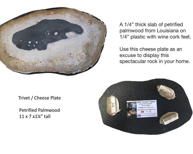 """Trivet 132: Petrified Palmwood 11"""" x 7"""" X 1 1/4"""" tall"""