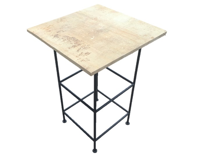 Tall Sandstone (Light): A natural sandstone pedestal  or bar table
