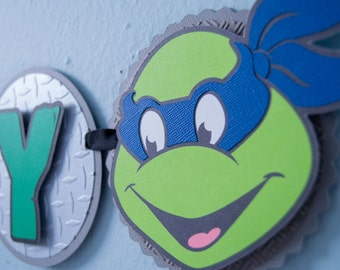 Ninja Turtles Birthday Banner