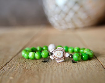 Sea Turtle and Shell Bracelet