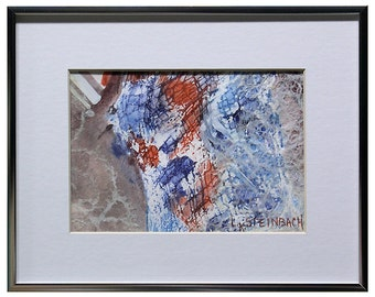 Patriot II - Original Abstract - Red, White, and Blue - Mixed Media Original