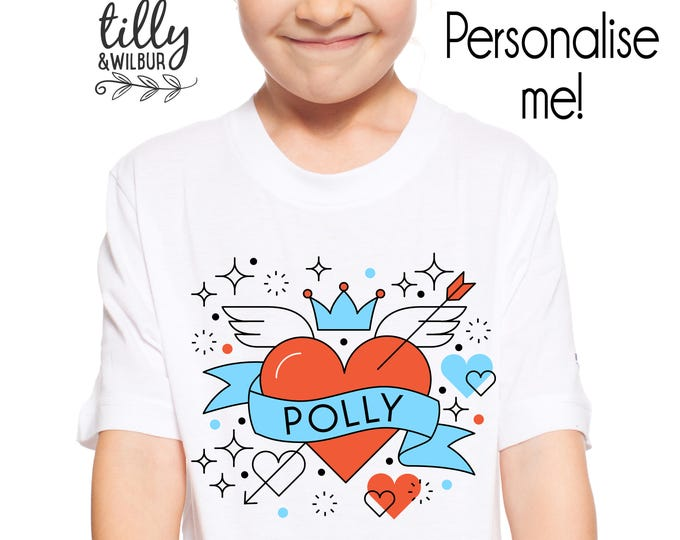 Personalised Girls Valentine's Day T-Shirt