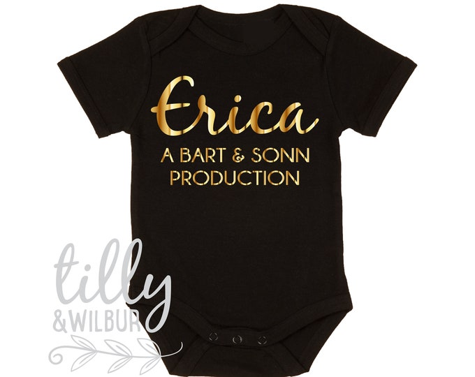 Baby Bodysuit Personalised With Baby And Parents Names