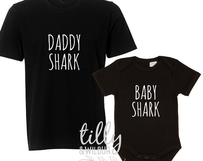 Daddy Shark Baby Shark Matching Shirts