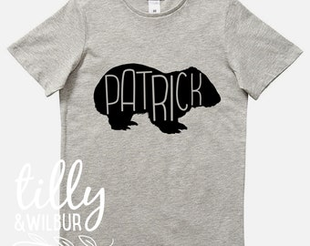 Personalised Wombat T-Shirt For Boys