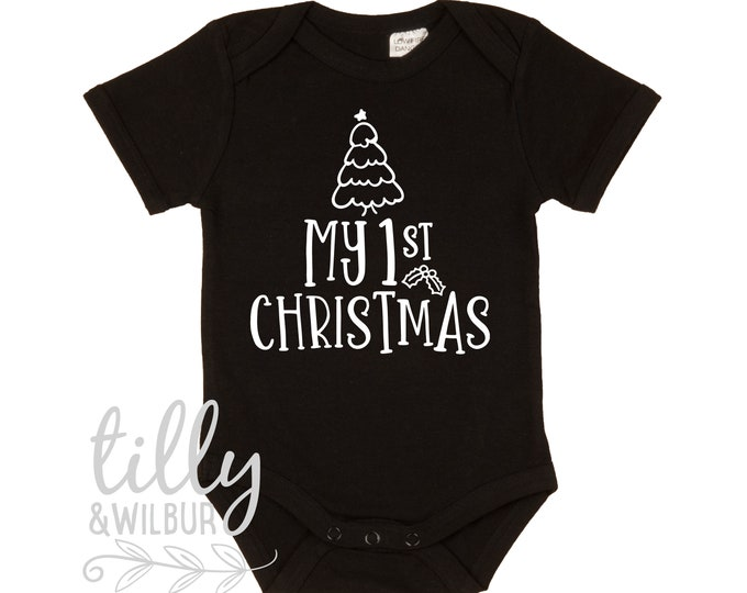 My 1st Christmas Baby Bodysuit