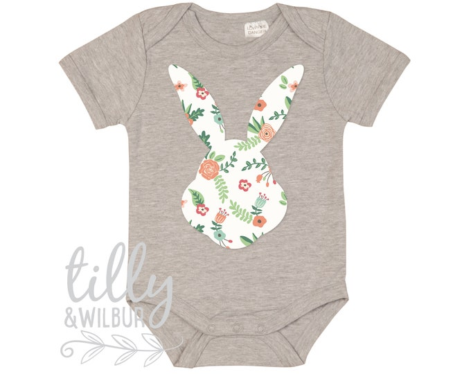 Pretty Patterned Easter Baby Bodysuit