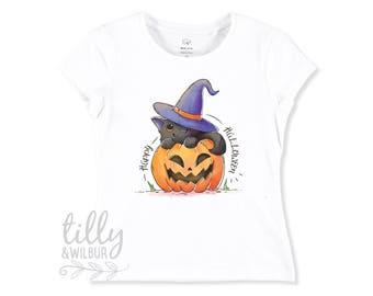 Happy Halloween T-Shirt For Girls