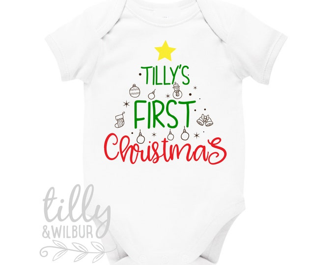 Personalised 1st Christmas Outfit With Baby's Name