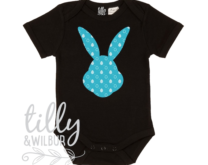 Patterned Easter Bunny Baby Bodysuit For Boys