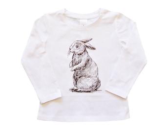 Easter Bunny Rabbit T-Shirt For Girls