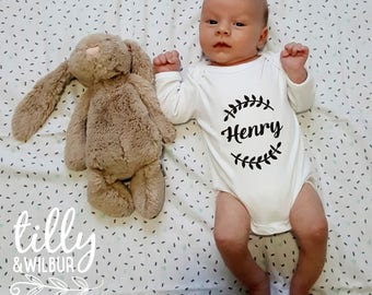 Personalised Baby Bodysuit For New Arrivals