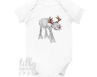 Star Wars AT-AT Walker Christmas Baby Bodysuit, Reindeer at-at,  Christmas Walker, Star Wars Gift, Star Wars Baby, Star Wars Walker at at