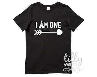 I Am One Boys Birthday Shirt