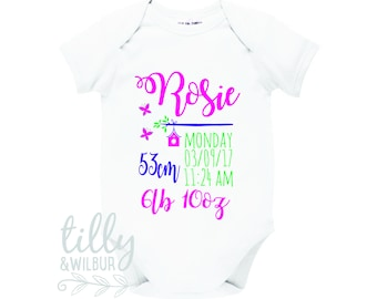 Personalised Newborn Baby Bodysuit