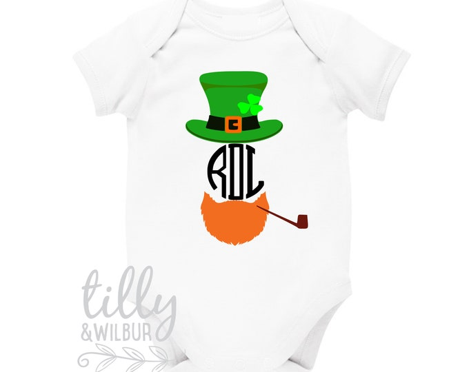 St Patrick's Day Personalised Baby Bodysuit For Boys