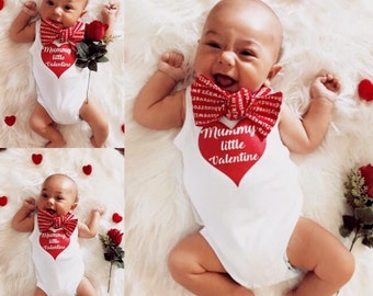 Mummy's Little Valentine Baby Bodysuit