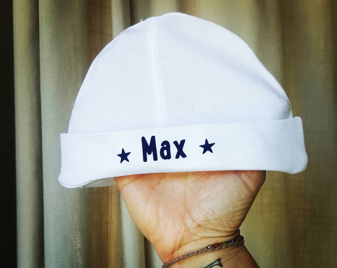 Personalised Baby Hat For Boys