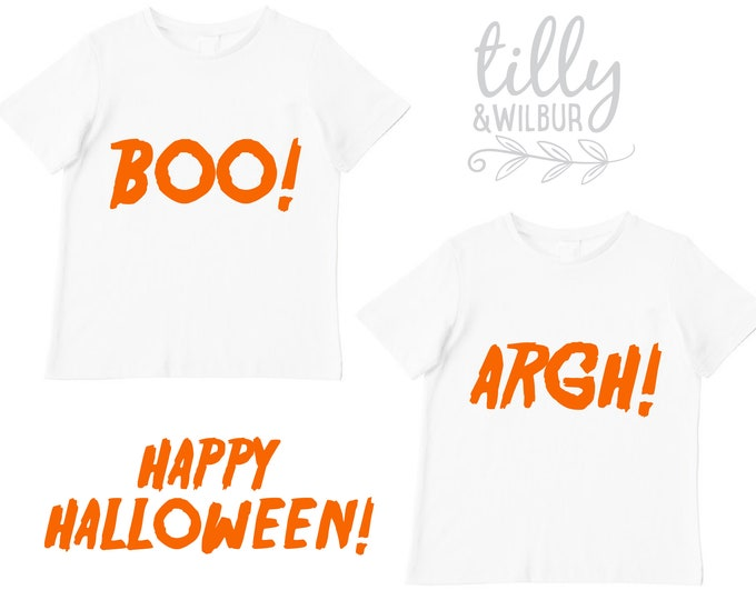Halloween T-Shirt Set For Twins
