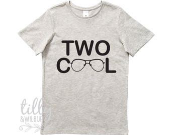 Two Cool Boys Birthday T-Shirt, Two Cool Shirt, 2 Year Old Boy, Second Birthday Gift, 2nd Birthday Present, 2nd Birthday Outfit, Boy 2