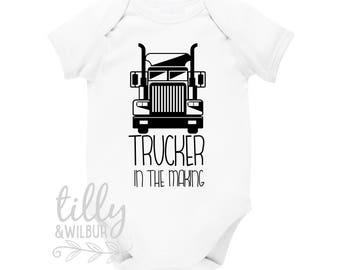 Trucker In The Making Kenworth Baby Bodysuit