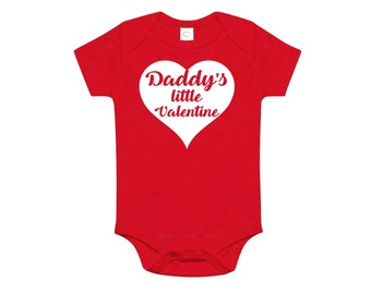 Daddy's Little Valentine Baby Bodysuit
