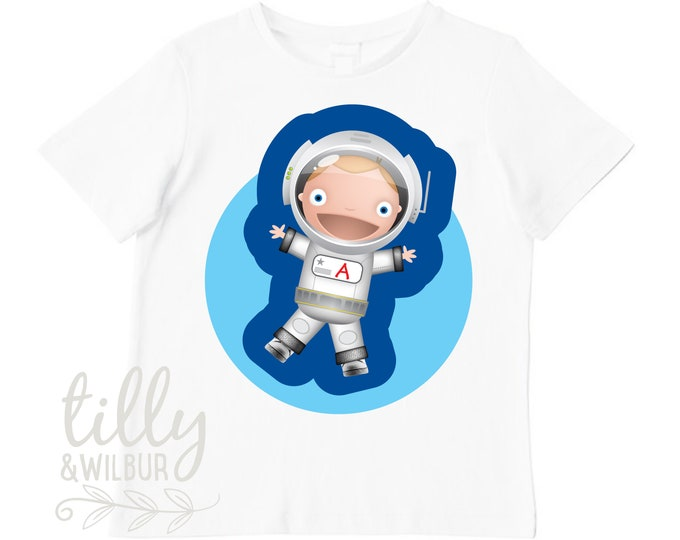 Personalised Astronaut T-Shirt For Boys