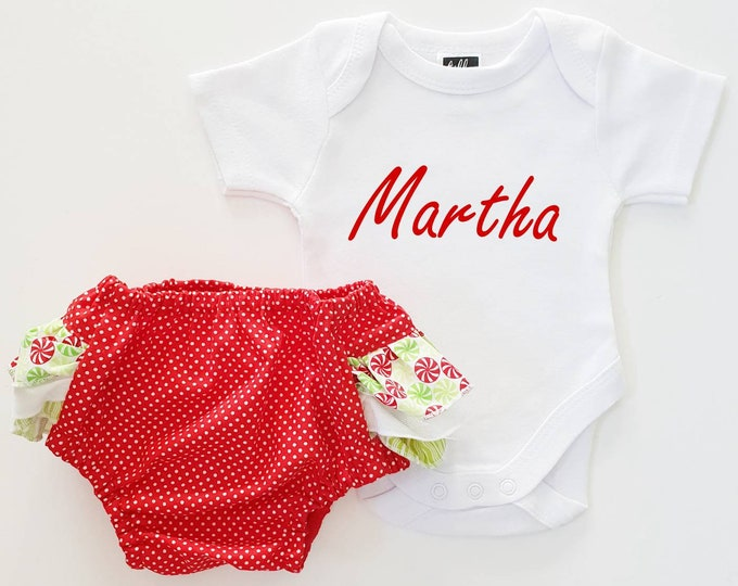 Personalised Christmas Baby Outfit