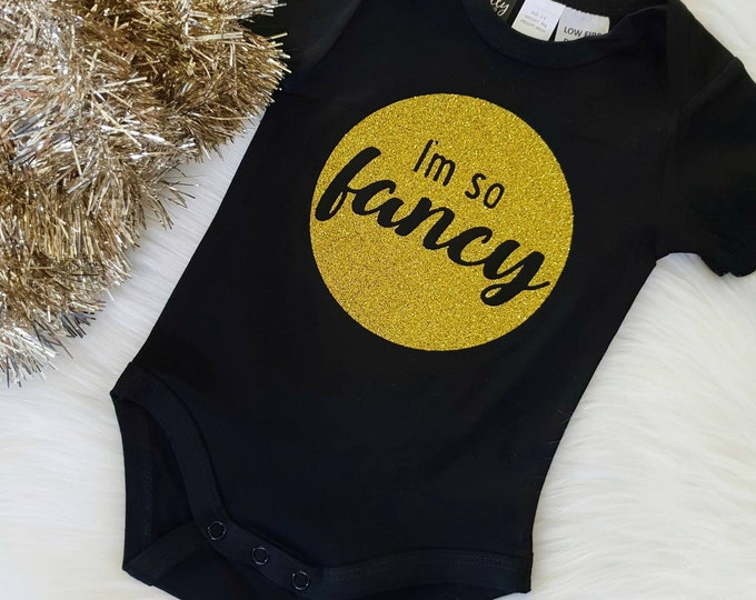 I'm So Fancy Baby Bodysuit