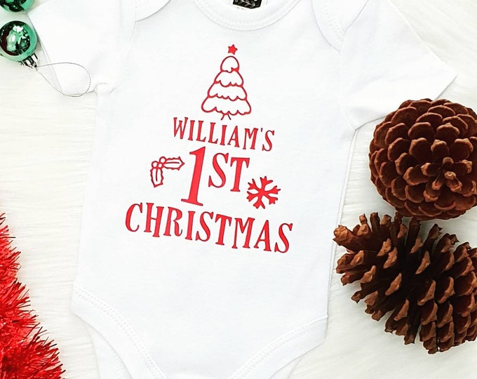 Personalised First Christmas Bodysuit