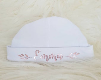 Personalised Baby Hat For Girls