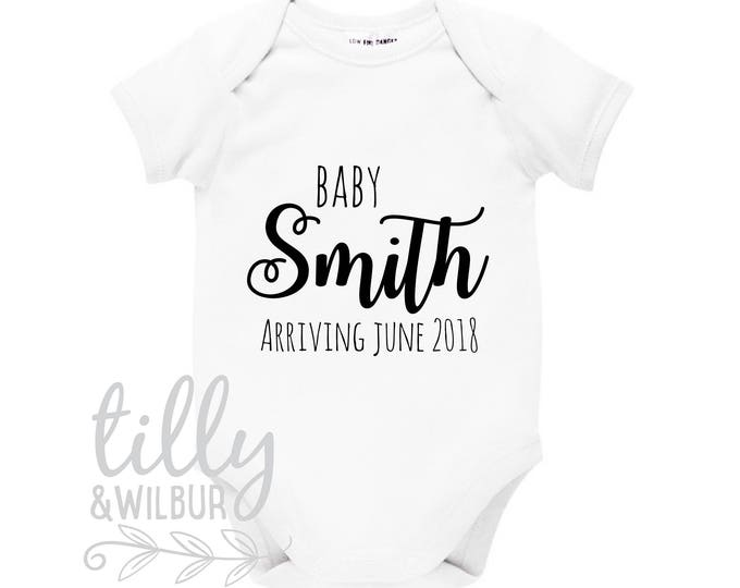 Pregnancy Announcement Baby Bodysuit