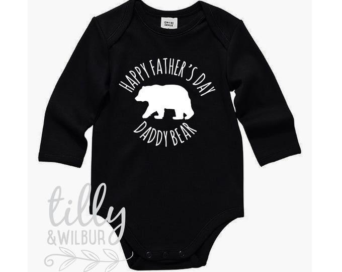 Happy Father's Day Daddy Bear Bodysuit For Baby Boys