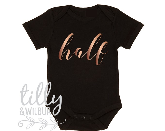 Half Birthday Baby Bodysuit For Girls