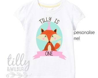 Personalised Girls One Birthday T-Shirt