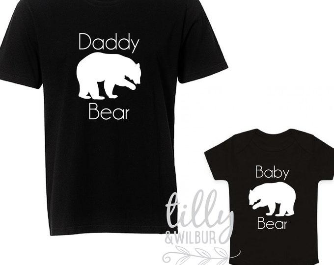 Daddy Bear Baby Bear Father's Day Shirts