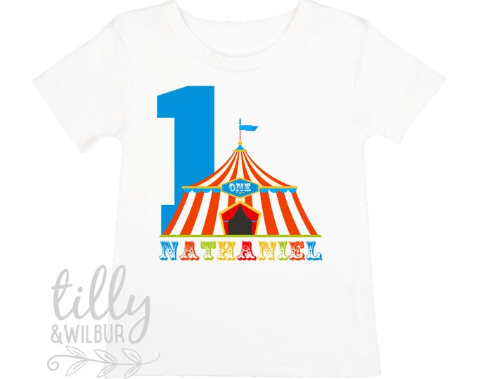 One Personalised Boys 1st Birthday T-Shirt