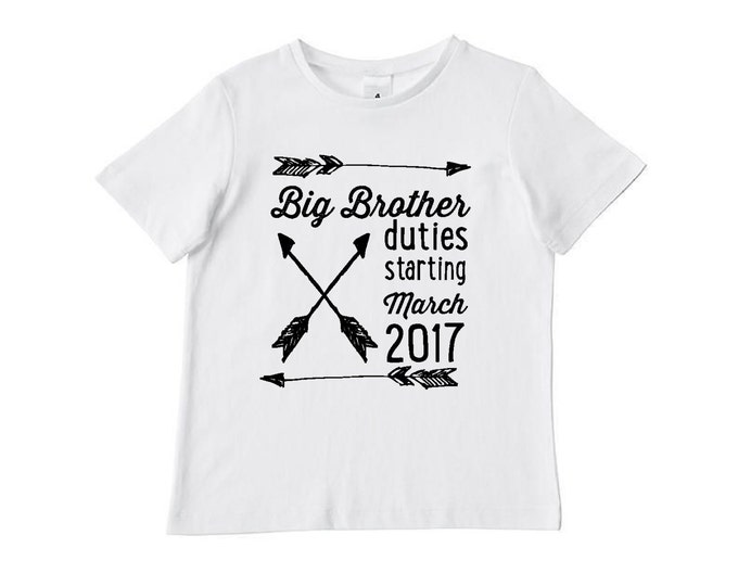 Personalised Big Brother Duties Pregnancy Announcement T-Shirt For Boys