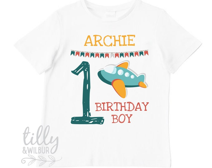 First Birthday T-Shirt With Plane