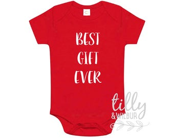Best Gift Ever Christmas Baby Bodysuit