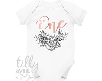One 1st Birthday Bodysuit