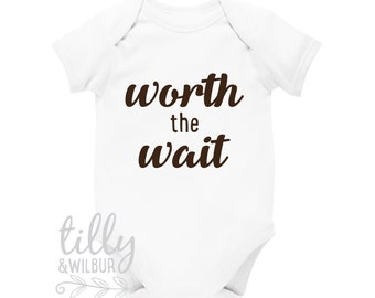 df00fb3ea1935 Worth The Wait Baby Bodysuit, Pregnancy Announcement, Maternity Photo Prop,  Reveal, Worth The Long Wait, Some Things Are Worth The Wait,