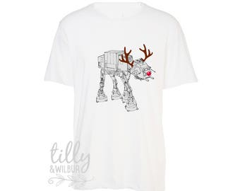Star Wars AT-AT Reindeer Walker T-Shirt For Men