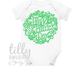 Happy St Patrick's Day Baby Bodysuit