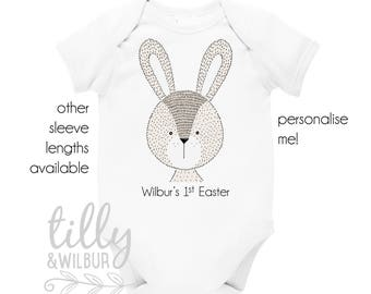 Personalised 1st Easter Baby Bodysuit